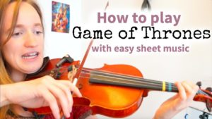 Free Online Violin Lesson Game of Thrones