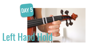 left hand hold violin lesson