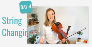 lesson 4 learn to change strings violin