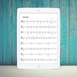 custom sheet music violin